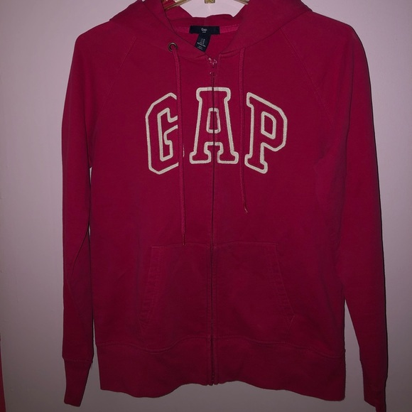 GAP Jackets & Blazers - GAP pink hoodie with white lettering